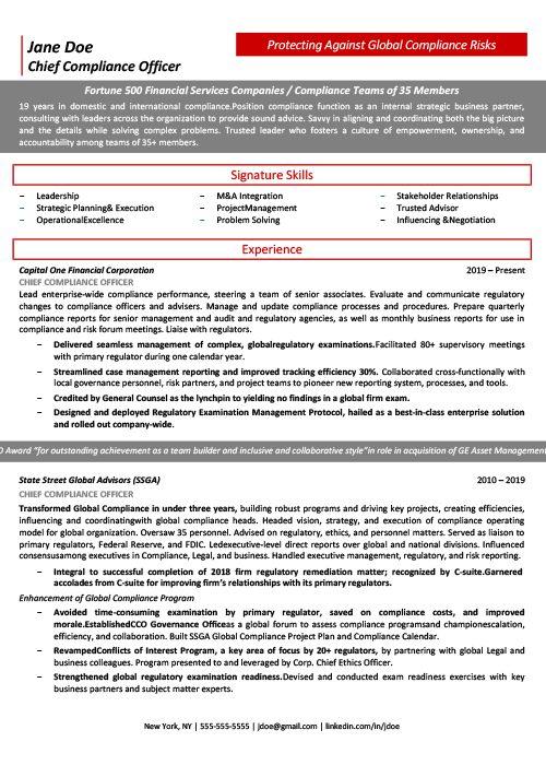 CCO Resume Sample 1