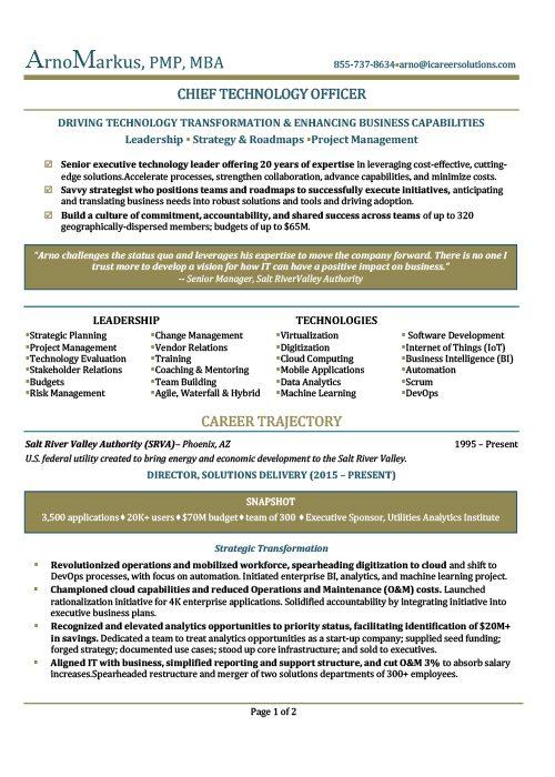 CTO Resume Sample 1