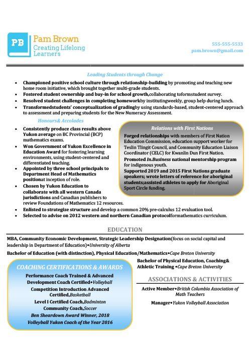 Department Head Resume Sample 2
