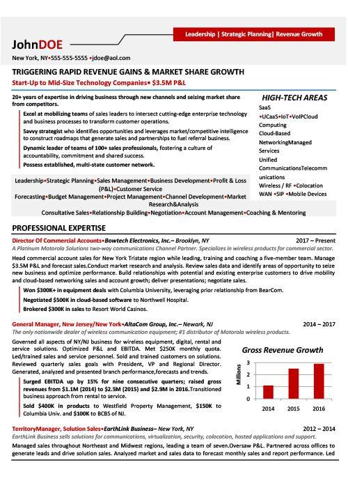 Director of Sales Resume Sample 1