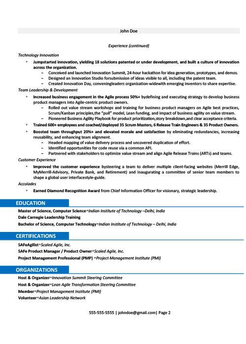 Fintech Resume Sample 2