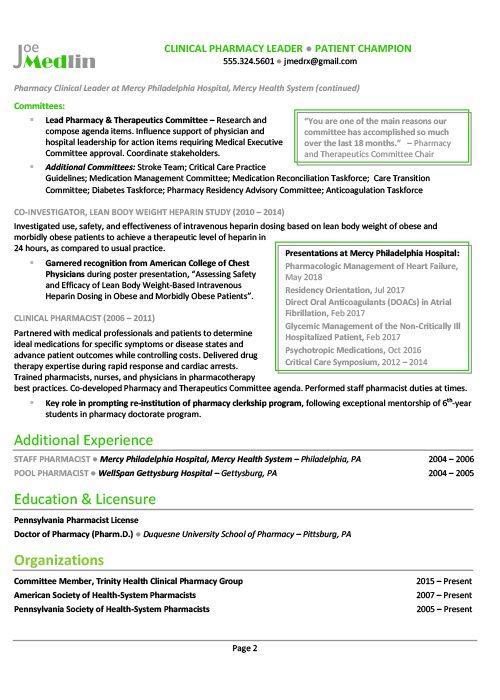 Healthcare Resume Sample 3