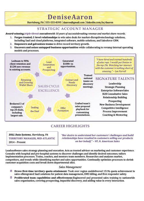 Strategic Account Manager Resume Sample 1